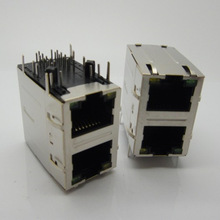 Double row 1 port Shield Side entry female integrated rj45