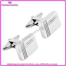 IJX0076 custom engrave lines mens 316l stainless steel luxury suit shirt cufflinks