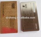 smart visiting metal business card printed design