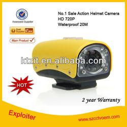 120 degree wide angle 20M waterproof FULL HD 1080P Helmet Sport Camera, For Bike, Car and Motocyle