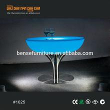wholesale price LED furniture Round LED lighting bar table
