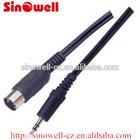 5 Pin Din MIDI Plug To 3.5mm Jack Stereo Plug Audio Cable