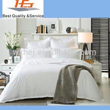 Plain style white 100%cotton double size duvet covers pillow case