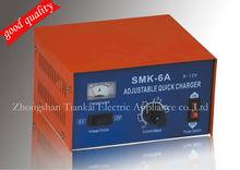 smk6A e12v lithium ion car solar battery charger