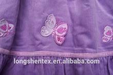 100%cotton corduroy printed fabric for garment/children fabric
