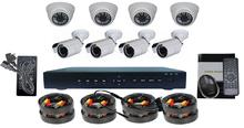 1000TVL CCTV Cams & 8 Channel H.264 Surveillance Video Security Camera DVR Kit System
