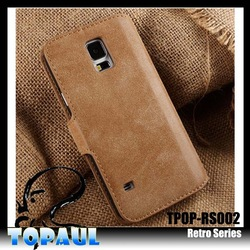 2014 new arrival standing flip magnetic closure phone case with pocket for iphon5