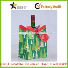2014 Santa Claus printing paper wine bag