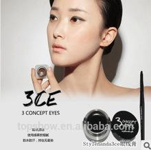 3 CE Korea Black Waterproof Not Get Splotchy Eyeliner Cream