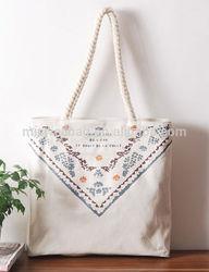 nice color canvas cotton shopping bag