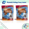 custom printing resealable dog / pet food packaging bag with zipper
