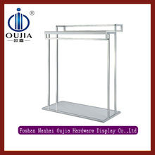 hot sale metal hanging display racks/clothing hanging rack/metal clothes shelf