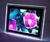 A4 led lighted aluminum frame acrylic photo frame
