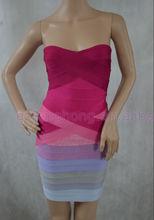Ombre bandage mini dress fancy evening dresses china