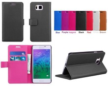 Brand New for Samsung Galaxy Alpha G850F Lychee PU Leather Wallet case,stand cover with credit card slots/money pocket