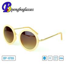 jaune ronde vogue lunettes de soleil