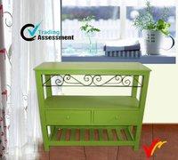 corner living room vintage wood indoor deco paint green furniture