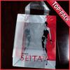 Fashion square bottom plastic bag for shopping