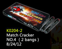 K0204-2 Match Cracker No.4 2 bangs/Direct Fireworks Factory/WUXING FIREWORKS FACTORY