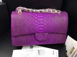Newest lady popular real python skin shoulder bags.designer handbag 2014