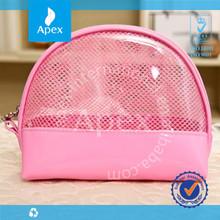 wholesale PVC net cosmetic bag case,storage bag ,zipper bag