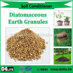 Organic garden soil amendment, natural soil improver granular diatomaceous earth