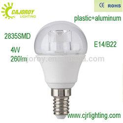 glass cover factory price 4W E14 B22 led bulb lighting