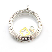 New design round shape glass memory floating lockets for charms