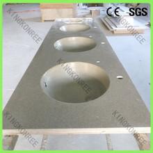 Kingkonree acrylic stone solid surface double bathroom sink countertop