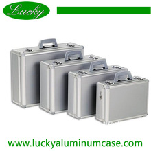 small middle large size waterproof aluminum metal case briefcase