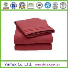 Home Textile bed sheet 100% polyester microfiber Bedding Set