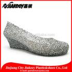 Shiny beaded stylish design multi-density midsoles bridal shoes pretty wedge sandals