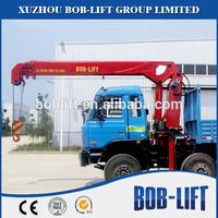 8 ton telescopic boom truck loading hydraulic workshop crane SQ8SA3