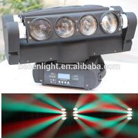 NEW 8X10W eight head sharpy beam moving head light rgbw 4 in 1 DMX 512 led spider light