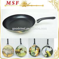 Silk printing as seen on tv ceramic fry pan with optional design