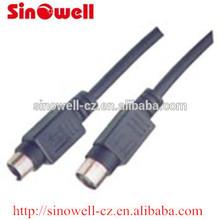 High Quality Mini 4 Pin Din Plug To Mini 4Pin Din jack Cable