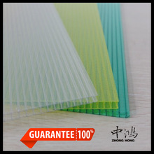 8mm twin wall polycarbonate sheet, 8mm sun sheet for greenhouse roofing