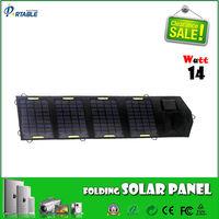 14Watt DC & USB Dual output charger thin film solar panel flexible