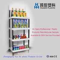make up tools display rack / cardboard display shelves / snack display rack