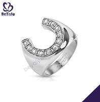 2014 new arrival full top czech rhinestones stainless steel rings