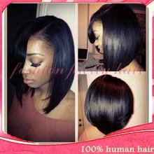 Cheap 7A Virgin Brazilian Human hair Short Bob lace Front wigs for black women with Baby hair 10-16 inch