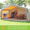 luxury travel canvas safari tent with three rooms