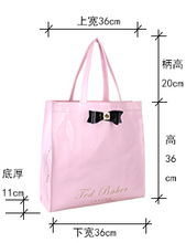 2014 Popular Candy Color Fashion Style with Bowknot Shopping Lady Hand Tote Bag