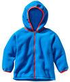 Venta al por mayor los niños chaqueta de lana azul, los bebés varones chaqueta de forro polar