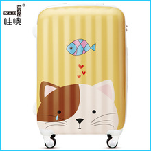 New Products Hard Shell little cat Luggage Sets-trolley bag case and luggage set