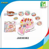 Wholesale plastic food toys plastic birthday cake toys for kids