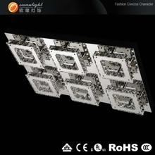 Lobbyilluminazione a sospensione, basein acciaioinox per la om88169-6 lampadario