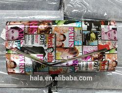 D50 2014 newest trendy magazine clutch bag envelope evening bag