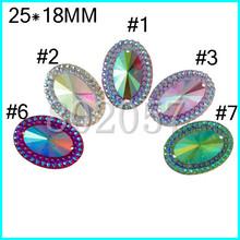 AB Oval Rhinestone Resin Wedding Dress Imitation Diamante