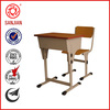 SJ-136 factory directly supply single seat school desk with attached chair with drawer for school